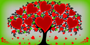 Create Your tree of love, made with friends who love you!