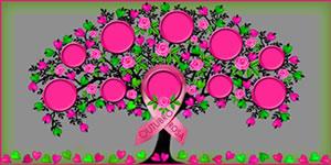 Arvore de Amigos que Apoiam a Campanha Outubro Rosa. Faça a Sua!