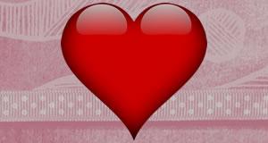 Montagem com 5 corações
