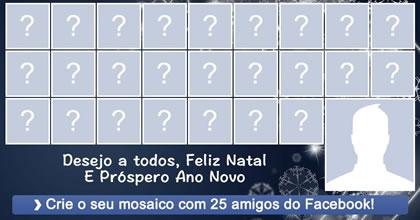 Mosaico de 25 amigos do Facebook! Crie o Seu