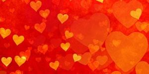 Quadro de corações com 8 amigos
