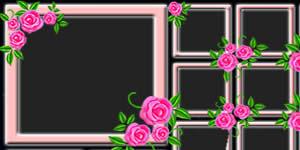 Lindo Mosaico de Rosinhas com 33 Amigos. Faça o Seu!