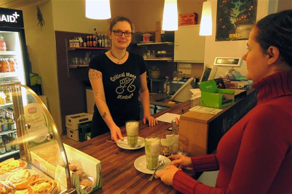veggiemaid in oldenburg auf einen kaffee mit sojamilch. Black Bedroom Furniture Sets. Home Design Ideas