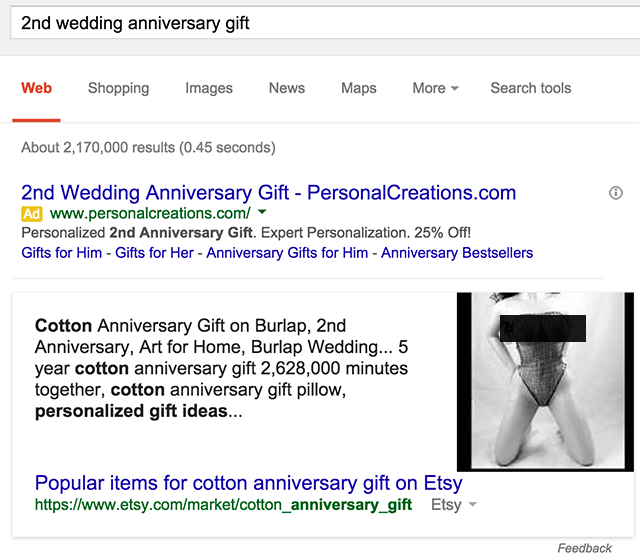 Google Knowledge Graph With Seductive Images