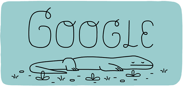 Google Dragon Logo Anniversary Of Komodo National Park