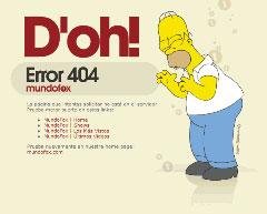 Google 404 Simpson
