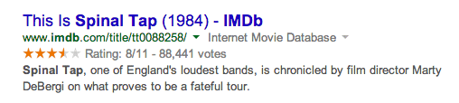 Google Shows Ratings Snippet 8 Out Of 11