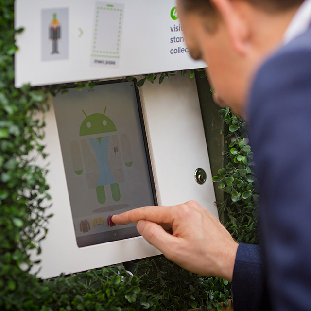 Androidify Station In Android Garden
