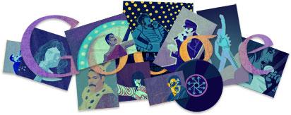 Freddie Mercury's Google Logo