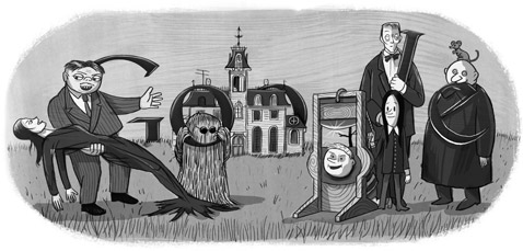 Charles Addams Google Logo