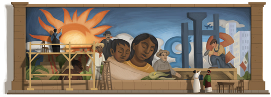 Google's Diego Rivera Logo