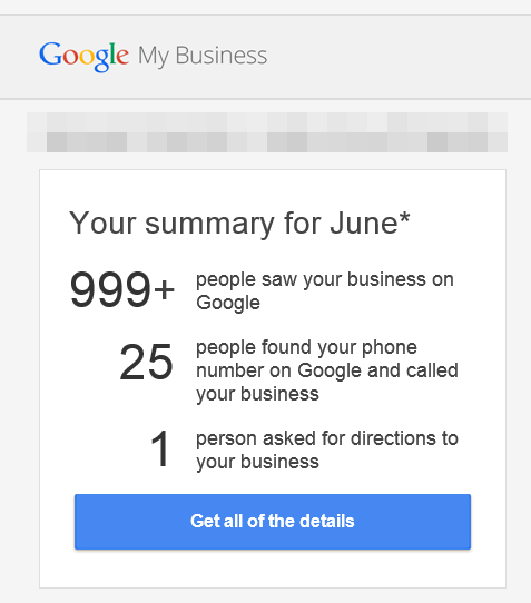 Google My Business Emails With Analytics & Stats