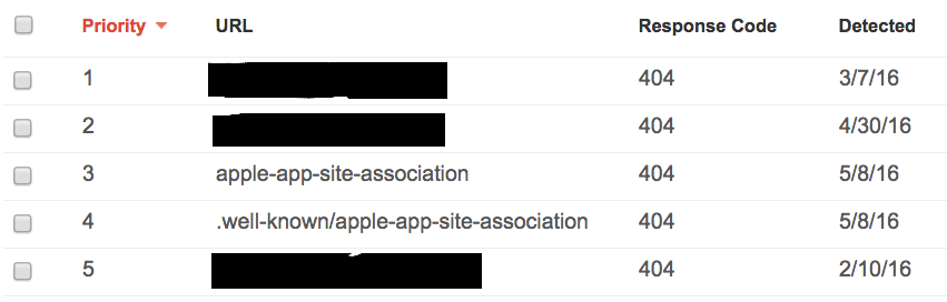 click for full size apple app site association