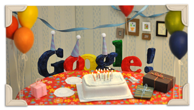 Google 13th Birthday Logo
