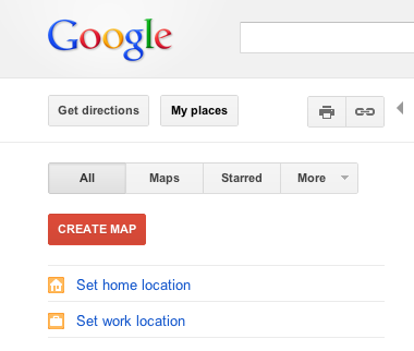 Google Maps - Home/Work