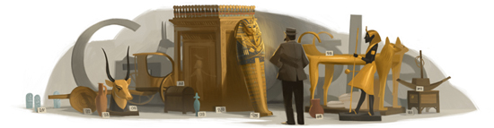 Google Howard Carter Logo