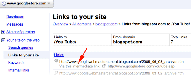 Google: Via This Intermediate Link