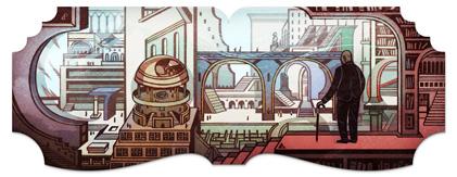 Jorge Luis Borges Google Logo