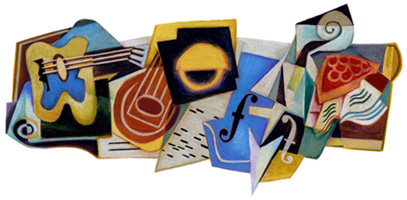 Juan Gris 125th Birthday Google Logo