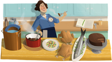 Julia Child Google Logo
