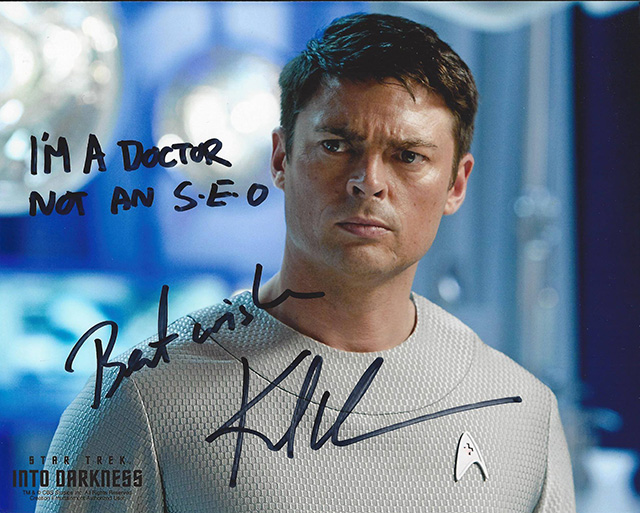 Actor: Karl Urban In Star Trek Signs: I'm A Doctor, Not An SEO