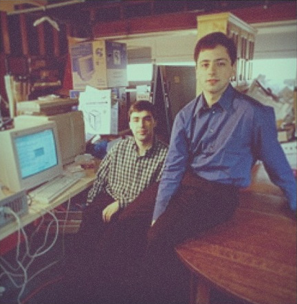 Google Co-Founders, Larry Page & Sergey Brin In 1999