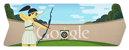 Google London 2012 archery logo