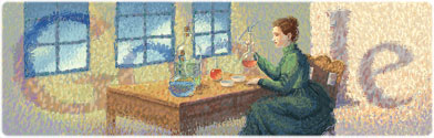 Marie Curie Google Logo
