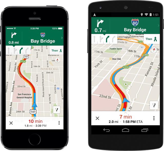 Lane Nav Google MAps