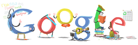 Google New Year Day Logo