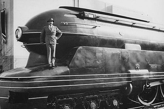 Pennsylvania Railroad's S1 steam locomotive by Raymond Loewy