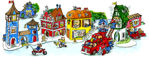 Richard Scarry Google Logo