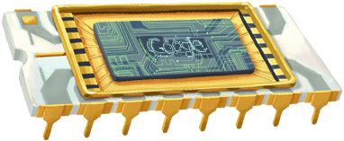 Google Robert Noyce Chip Logo