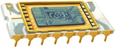 Google Robert Noyce Chip Logo