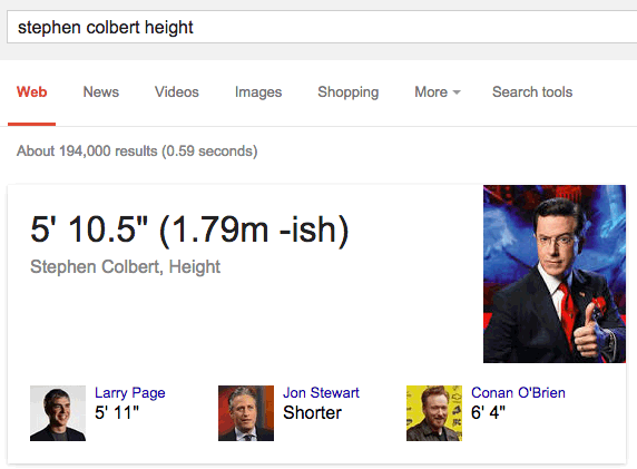 Stephen Colbert's Search Results Box Updated