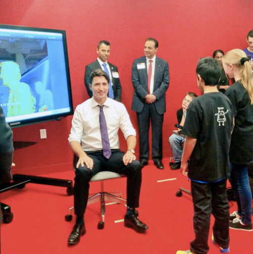 Canadian Prime Minister Justin Trudeau at Google