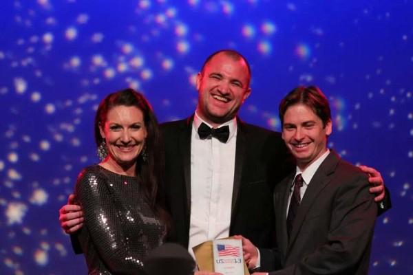 Elisabeth Osmeloski and Greg Finn Search Engine Land US Search Awards