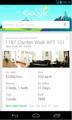 Google Zillow Google Now