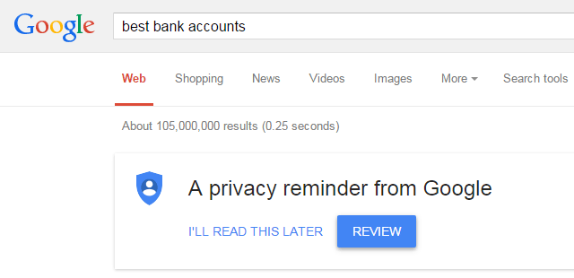 A Privacy Reminder From Google