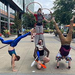 Acrobats At Google Kirkland, Seattle