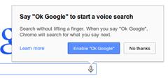 okay google chrome