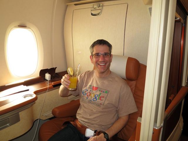 Adam Lasnik Singapore Airlines premium cabin
