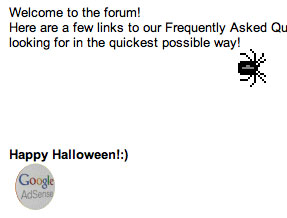 AdSense Halloween