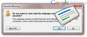 Google AdSense IE Security