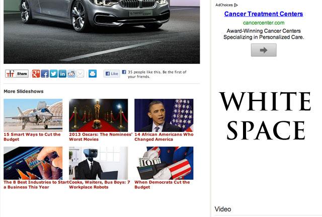 Google AdSense White Space