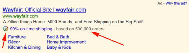 Google Trusted Stores AdWords Badge