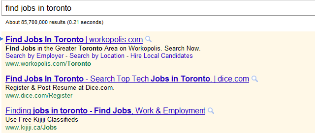 regular adwords ad
