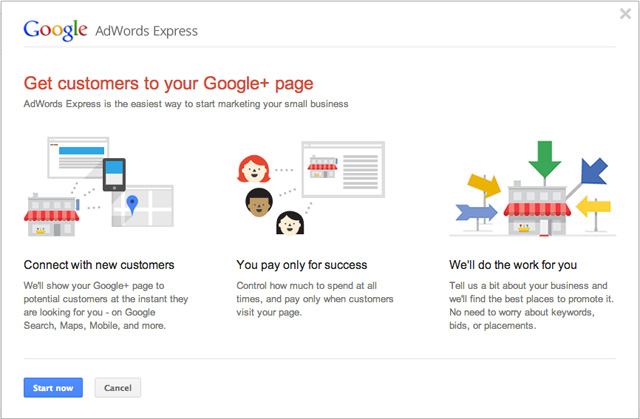 AdWords Express Google+ Page