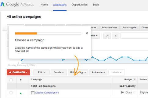 Google AdWords Guided Flows
