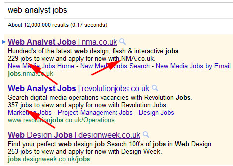 Google Adwords Tests Special Job Ads Extensions